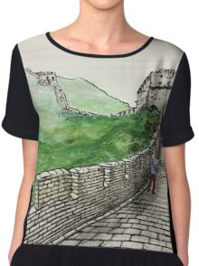 Great Wall of China Chiffon Top