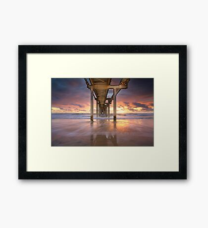 Fingal Sand Pumping Jetty Framed Print