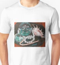 Paperweight and Pearls with shell Unisex T-Shirt