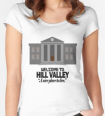 Welcome to Hill Valley Women's Fitted Scoop T-Shirt