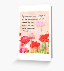 Courage Is:  Poppy Watercolor Illustration Greeting Card