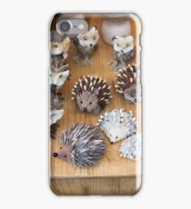 hedgehogs and owls handma iPhone Case/Skin