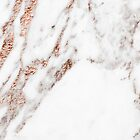 Rose gold vein marble by peggieprints