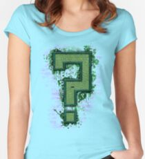 Riddler's Questionable Maze Women's Fitted Scoop T-Shirt