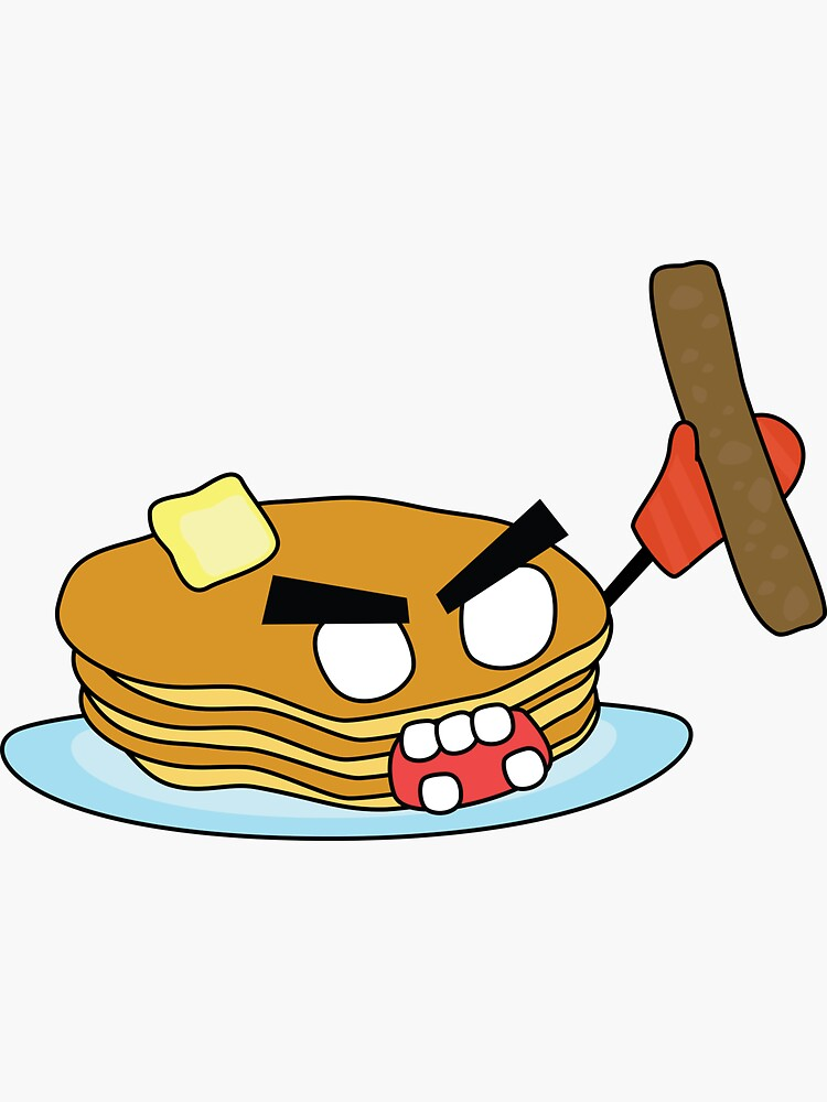 angry zombie pancakes wielding a sausage by shortstack