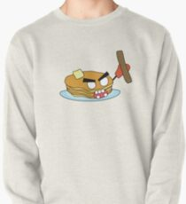 angry zombie pancakes wielding a sausage Pullover