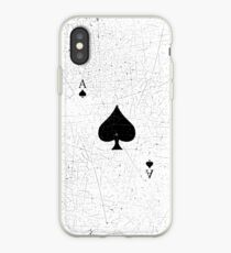 Vintage Look Ace of Spades Playing Card Graphic iPhone Case
