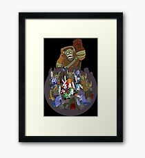 Castle Crashers 4 Swords Style Framed Print