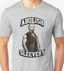 Abraham Lincoln - Abolish Sleevery Slim Fit T-Shirt