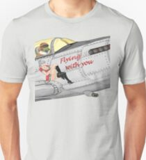 Aircraft nose art FlyN with U Unisex T-Shirt
