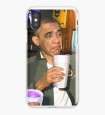 Obama Sippin  iPhone Case/Skin