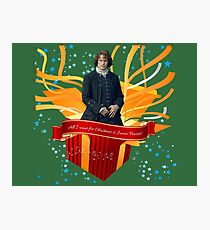 All I want for Christmas is Jamie Fraser!  Photographic Print