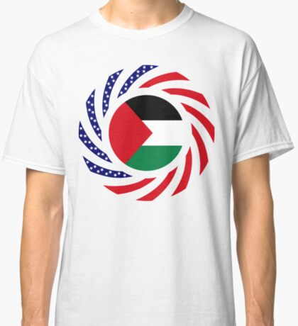 Palestinian American Multinational Patriot Flag Series Classic T-Shirt