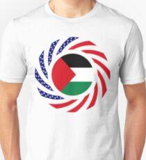 Palestinian American Multinational Patriot Flag Series Unisex T-Shirt