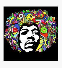 Jimi Hendrix Color Blast Design Photographic Print