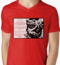 Frog Ink Psalm Mens V-Neck T-Shirt