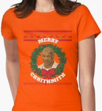 Merry Chrithmith Funny Christmas T-Shirt Womens Fitted T-Shirt