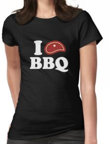 I Love BBQ Womens Fitted T-Shirt