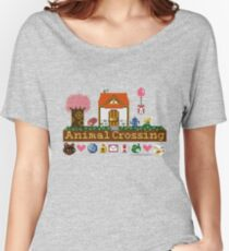 Animal Crossing Pixel house Women's Relaxed Fit T-Shirt