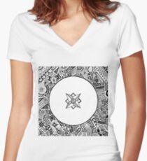 Compass Points Women's Fitted V-Neck T-Shirt