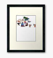8-bit Race Framed Print