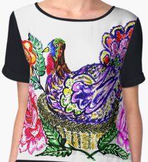 Painted Turkey Bird Women's Chiffon Top