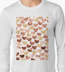 Rose gold hearts T-Shirt