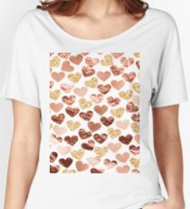 Rose gold hearts Women's Relaxed Fit T-Shirt
