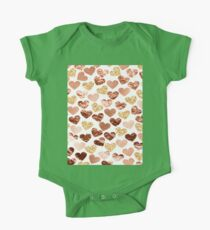 Rose gold hearts One Piece - Short Sleeve