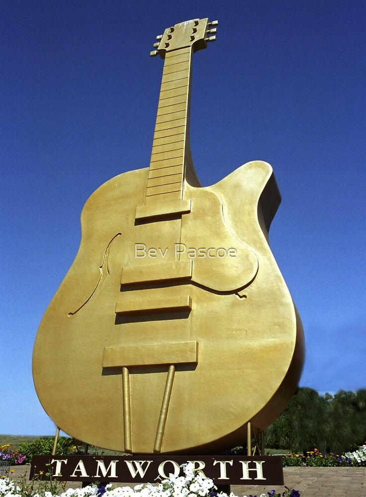 Quot Golden Guitar Tamworth Nsw Quot By Bev Pascoe Redbubble