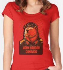Vote Soviet bear - russian bear meme Women's Fitted Scoop T-Shirt
