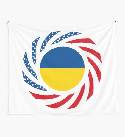 Ukrainian American Multinational Patriot Flag Series Wall Tapestry