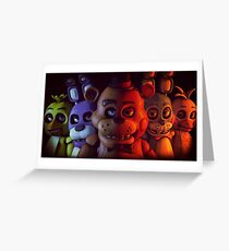 FNAF - FIVE NIGHTS AT FREDDY'S Greeting Card