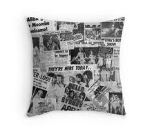 ABBA Newspaper Graphic Australia 1977 Throw Pillow