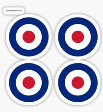4 Mod Logo's Sticker