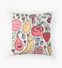 Fruits are friends Throw Pillow