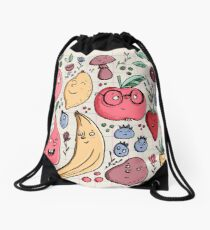 Fruits are friends Drawstring Bag