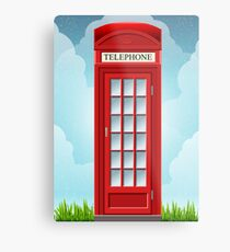 Red English Telephone Box Metal Print