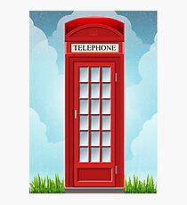 Red English Telephone Box Photographic Print