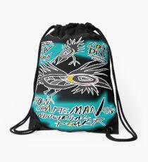crow fly Drawstring Bag