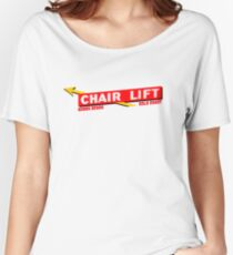 Nobby Beach Chairlift Women's Relaxed Fit T-Shirt