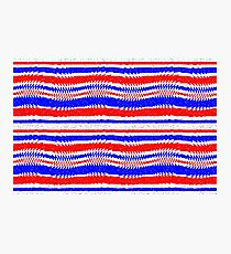 Red White Blue Waving Lines Photographic Print