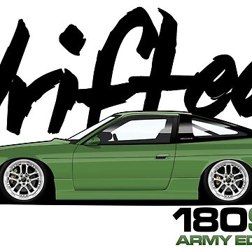 Drifted 180sx Tee - ARMY Edition by Drifted by driftedshop