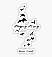 staying strong demi lovato Sticker
