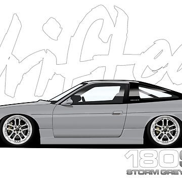 Drifted 180sx Tee - Storm Grey Edition by Drifted by driftedshop