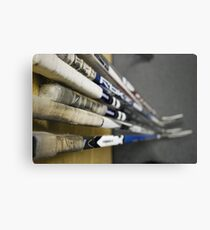 Hockey Sticks Metal Print