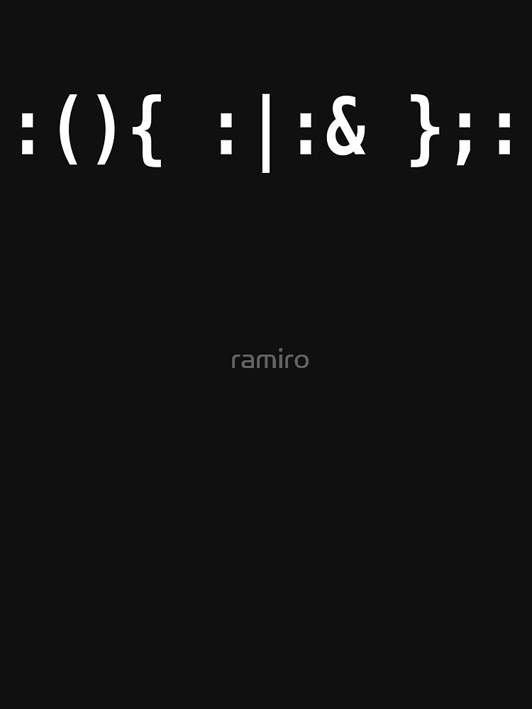 Bash Fork Bomb - White Text for Unix/Linux Hackers by ramiro