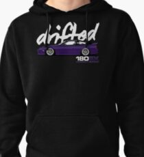 180sx Drift Tshirt - Midnight Edition by Drifted Pullover Hoodie