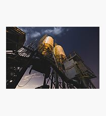 Abandoned Cement Factory Photographic Print