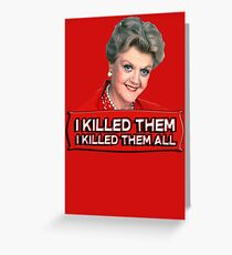 Angela Lansbury (Jessica Fletcher) Murder she wrote confession. I killed them all. Grußkarte